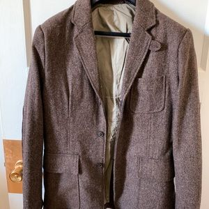Tweed H&M Blazer w/ Elbow Patches